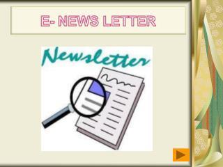 E- NEWS LETTER