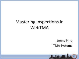 Mastering Inspections in WebTMA