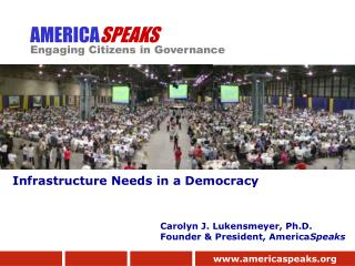 AMERICA SPEAKS Engaging Citizens in Governance