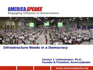 AMERICA SPEAKS Engaging Citizens in Governance
