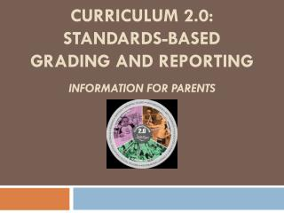 Curriculum 2.0:   Standards-Based Grading and reporting