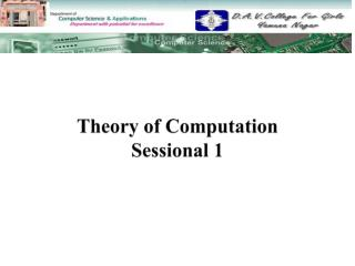 Theory of Computation Sessional  1