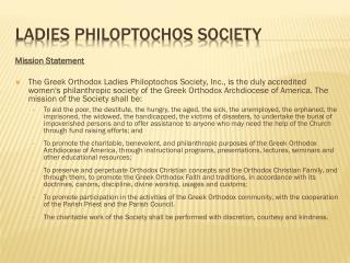 Ladies Philoptochos Society