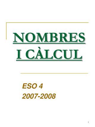 NOMBRES I CÀLCUL