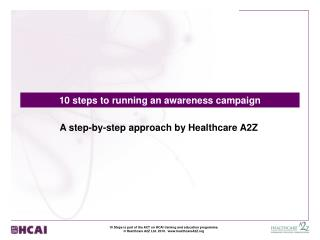 10 steps to running an awareness campaign