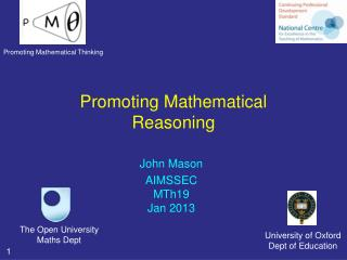Promoting Mathematical Reasoning