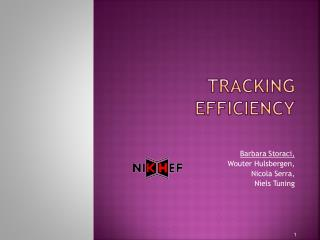 Tracking efficiency