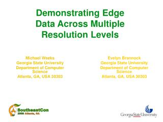 Demonstrating Edge Data Across Multiple Resolution Levels
