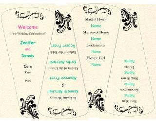 Welcome to the Wedding Celebration of Jenifer  and Dennis  Date Time  Place