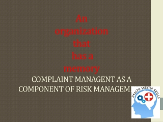 Incident Reporting   Customer Complaint Management