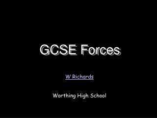 GCSE Forces