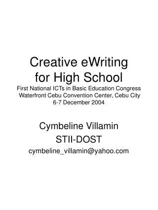 Cymbeline Villamin STII-DOST cymbeline_villamin@yahoo