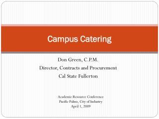 Campus Catering