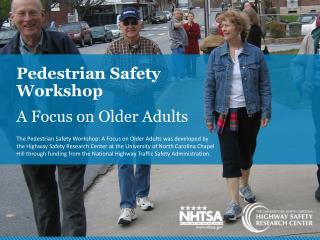 Pedestrian Safety Workshop