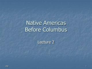 Native Americas Before Columbus