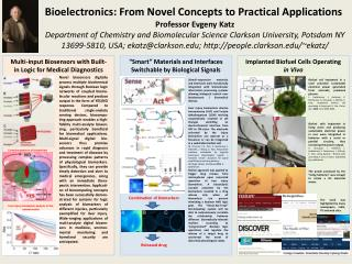 Bioelectronics: From Novel Concepts to Practical  Applications Professor  Evgeny  Katz