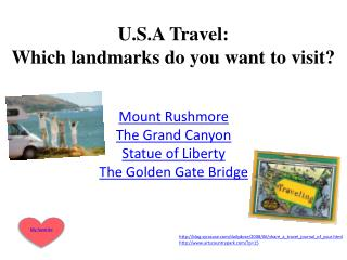 U.S.A Travel: Which landmarks do you want to visit?