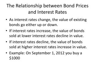 The Relationship between Bond Prices and Interest Rates