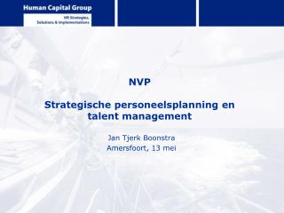 NVP Strategische personeelsplanning en  talent management
