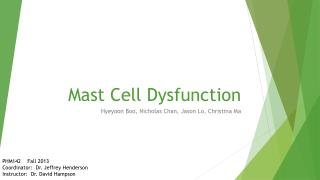 Mast Cell Dysfunction