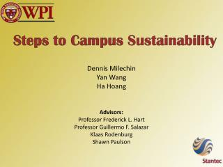 Steps to Campus  Sustainability