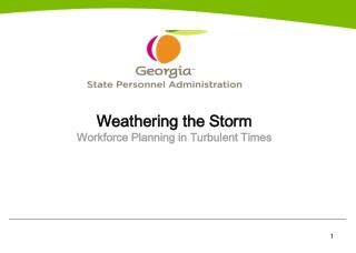 Weathering the Storm Workforce Planning in Turbulent Times