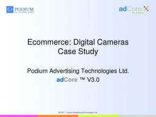 Ecommerce: Digital Cameras Case Study