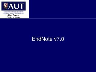 EndNote v7.0