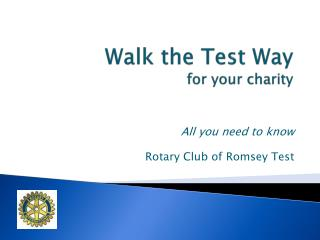 Walk the Test Way for your charity