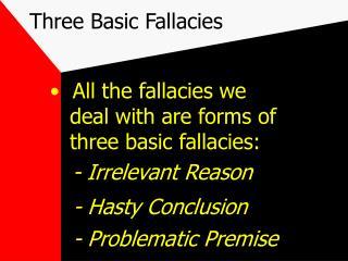 Three Basic Fallacies
