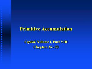 Primitive Accumulation
