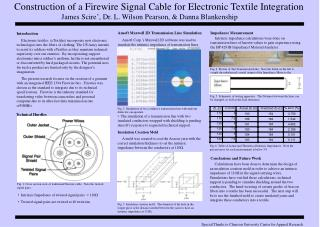 Construction of a Firewire Signal Cable for Electronic Textile Integration