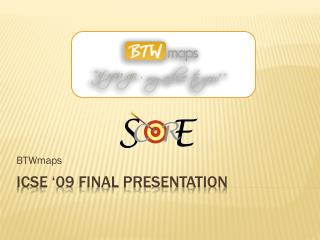 ICSE �09 Final presentation