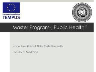 Master Program-,,Public Health''