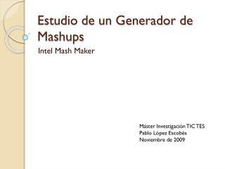 Estudio de un Generador de  Mashups