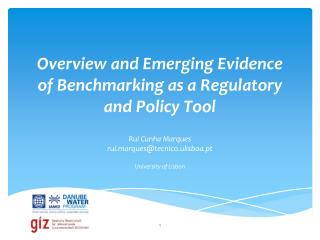 Overview and Emerging Evidence of Benchmarking as a Regulatory and Policy Tool