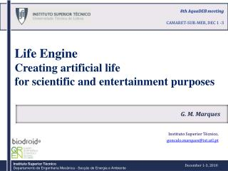 Life Engine Creating artificial life  for scientific and entertainment purposes