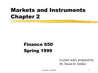Markets and Instruments Chapter 2