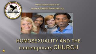 Homosexuality and the  contemporary Church