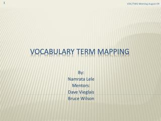VOCABULARY TERM MAPPING