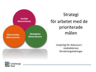 Strategi för arbetet med de prioriterade målen