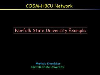 COSM-HBCU Network