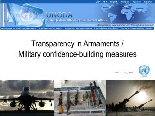 Transparency in Armaments /  Military confidence-building measures