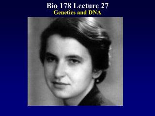 Bio 178 Lecture 27