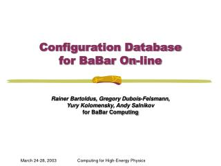 Configuration Database  for BaBar On-line