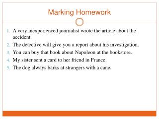 Marking Homework