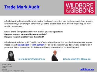 Trade Mark Audit