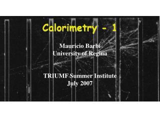 Calorimetry - 1