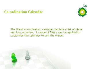 Co-ordination Calendar