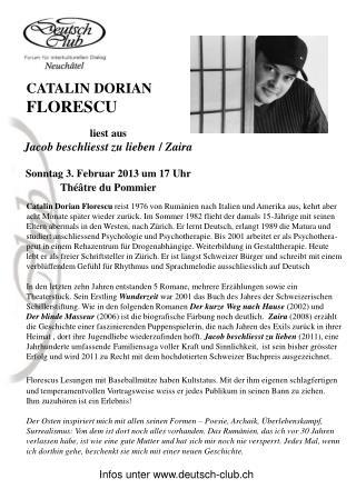 liest aus   Jacob beschliesst zu lieben / Zaira Sonntag 3. Februar 2013 um 17 Uhr